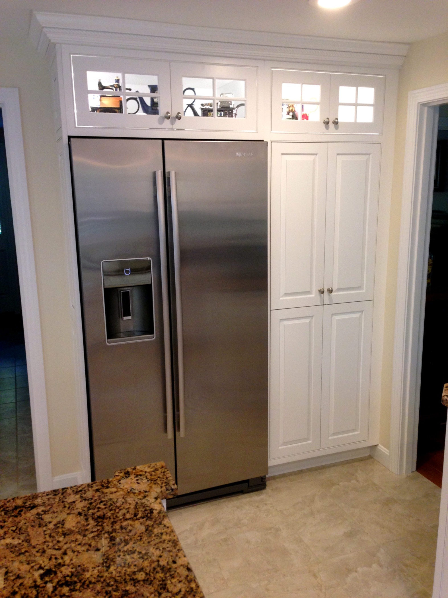 M F Goodwin Company Built In Refrigerator Cabinetry Surround